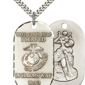 St Christopher Marines Pendant Sterling Silver 90497
