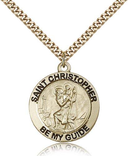 St Christopher Medal 14 Karat Gold Filled Large Engravable 81740