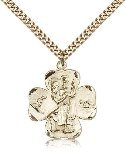 St Christopher Medal 14 Karat Gold Filled Large Engravable 81770