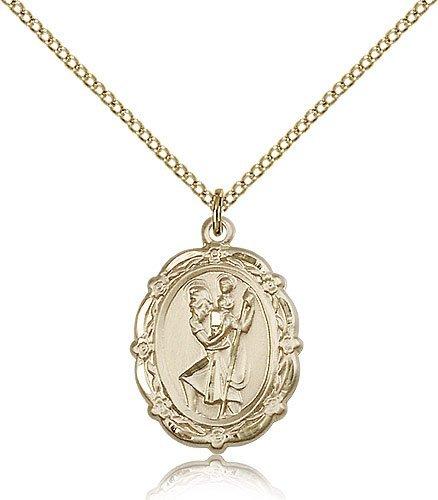 St Christopher Medal 14 Karat Gold Filled Medium Engravable 81792