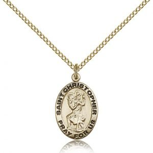 St Christopher Medal 14 Karat Gold Filled Medium Engravable 83109