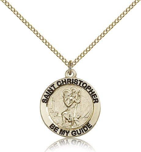 St Christopher Medal 14 Karat Gold Filled Medium Engravable 83181
