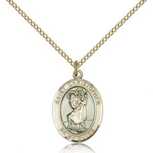 St Christopher Medal 14 Karat Gold Filled Medium Engravable 83329