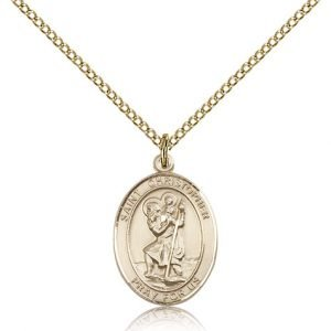 St Christopher Medal 14 Karat Gold Filled Medium Engravable 83335