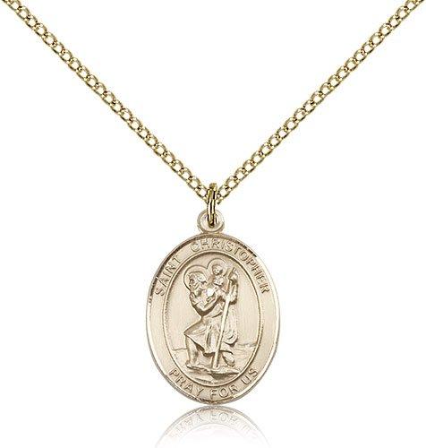 St Christopher Medal 14 Karat Gold Filled Medium Engravable 83335