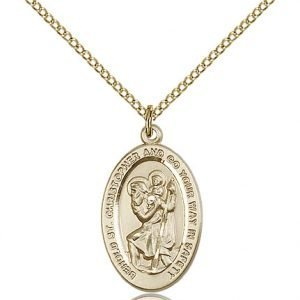 St Christopher Medal 14 Karat Gold Filled Medium Engravable 85498