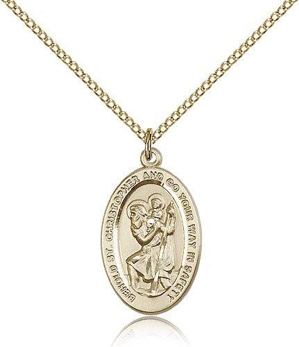 St Christopher Medal 14 Karat Gold Filled Medium Engravable 85498