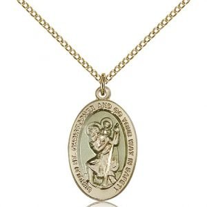 St Christopher Medal 14 Karat Gold Filled Medium Engravable 85500