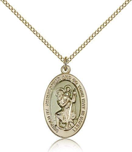 St Christopher Medal 14 Karat Gold Filled Medium Engravable 85500