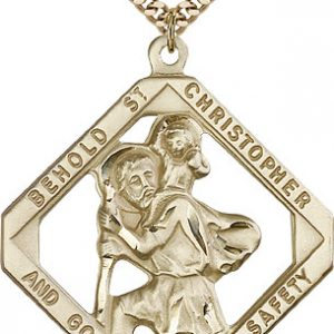 St Christopher Medal 14 Karat Gold Filled Xlarge 81850