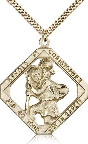St Christopher Medal 14 Karat Gold Filled Xlarge 81850