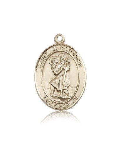 St Christopher Medal 14 Kt Gold Large Engravable 81967