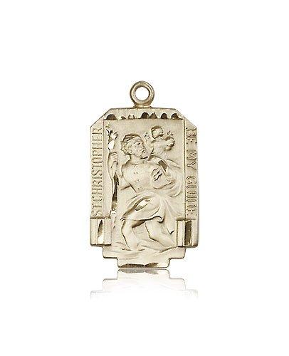 St Christopher Medal 14 Kt Gold Large Engravable 83218