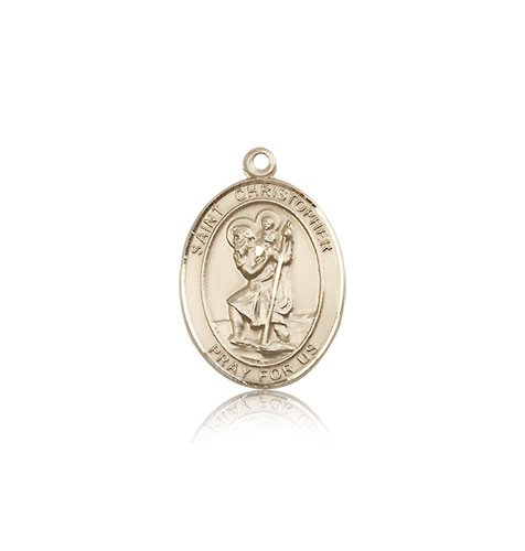 St Christopher Medal 14 Kt Gold Medium Engravable 83336