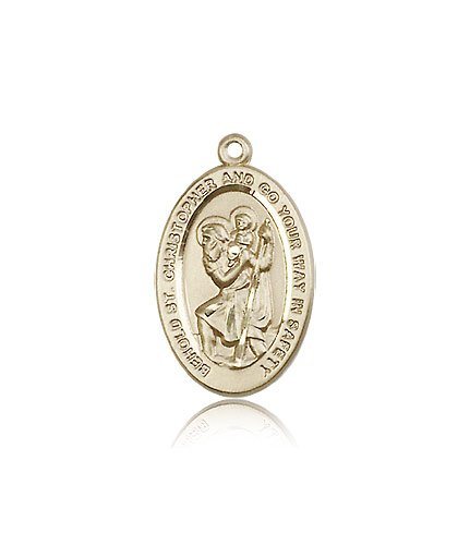 St Christopher Medal 14 Kt Gold Medium Engravable 85499