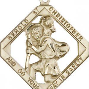 St Christopher Medal 14 Kt Gold Xlarge 81851