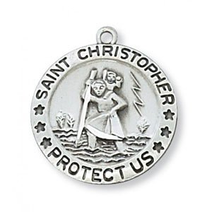 St Christopher Medal In Sterling Silver 10749