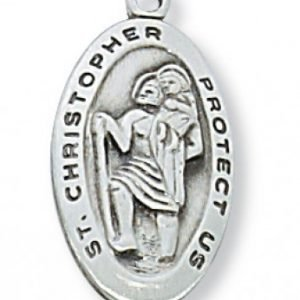 St Christopher Medal in Sterling Silver (#10764)