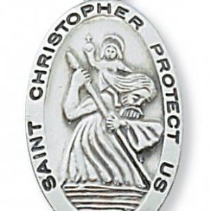St Christopher Medal In Sterling Silver 15404