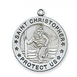 St Christopher Medal in Sterling Silver (#15405)