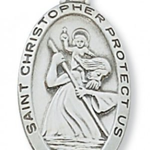 St Christopher Medal In Sterling Silver 15407
