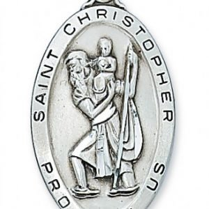 St Christopher Medal in Sterling Silver (#15408)