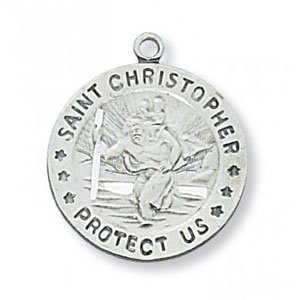St Christopher Medal In Sterling Silver 19098