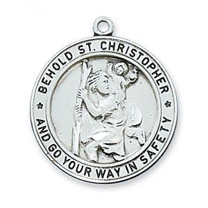 St Christopher Medal In Sterling Silver 19274