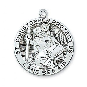 St Christopher Medal in Sterling Silver (#19298)