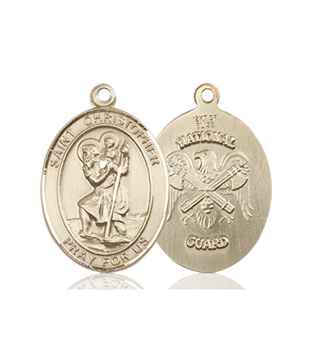 St Christopher National Guard Pendant 14 Kt Gold 90267