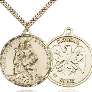 St Christopher National Guard Pendant Gold Filled 89732