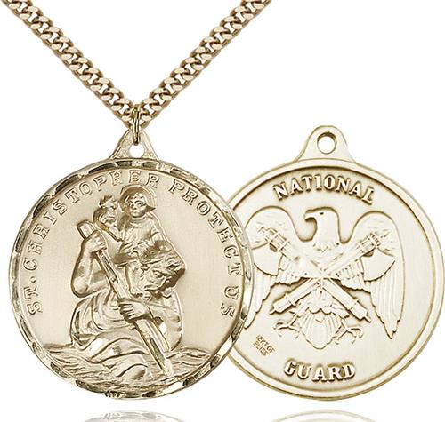 St Christopher National Guard Pendant Gold Filled 89732
