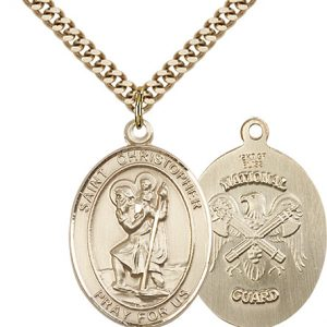 St Christopher National Guard Pendant Gold Filled 90152