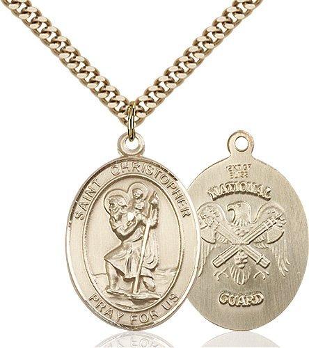 St Christopher National Guard Pendant Gold Filled 90152