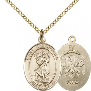 St Christopher National Guard Pendant Gold Filled 90260