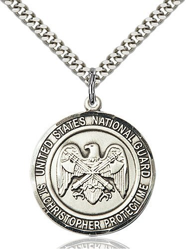 St Christopher National Guard Pendant Sterling Silver 89960