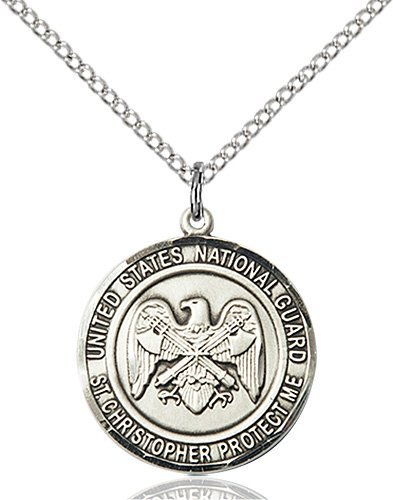 St Christopher National Guard Pendant Sterling Silver 89978