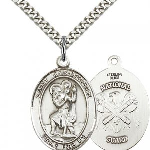 St Christopher National Guard Pendant Sterling Silver 90166