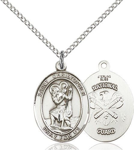 St Christopher National Guard Pendant Sterling Silver 90274