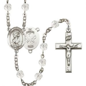 St Christopher National Guard Rosary Crystal Beads R15596