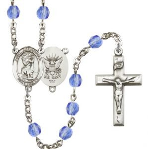 Navy St Christopher Rosaries