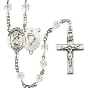 St Christopher Paratrooper Rosary Crystal Beads R15658