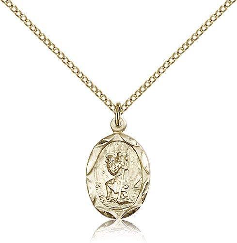St Christopher Pendant 14 Karat Gold Filled Long 83036