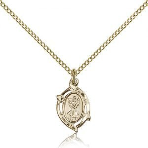 St Christopher Pendant 14 Karat Gold Filled Long 85504