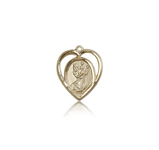 St Christopher Pendant 14 Kt Gold Small 83209
