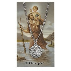 St Christopher Pendant and Prayer Card Set (#19002)