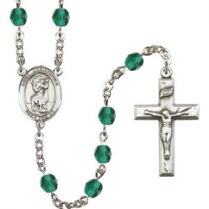 St Christopher Rosary Zircon Beads R00694