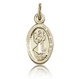 St Christopher Tiny Charm 14 Karat Gold Filled 84427