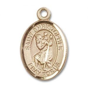 St Christopher Tiny Charm - 14 KT Gold (#84525)