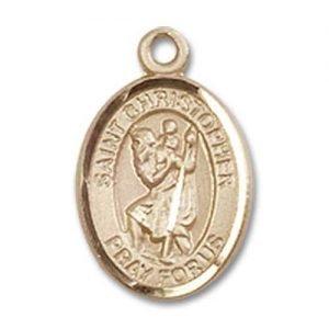 St Christopher Tiny Charm - 14 KT Gold (#84525)